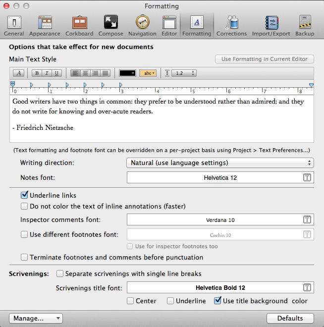 Tech Tuesday Formatting Tips For Scrivener