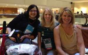 Hanging with my Kiss & Thrill blog sisters, Manda Collins and Sarah Andre, in Atlanta.