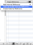 Add an External Reference (Mac)