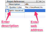Adding a web reference (Mac)