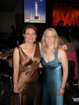Rachel Grant and me on awards night in NYC.
