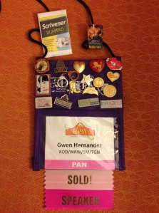 Image of my 2014 RWA conference name badge
